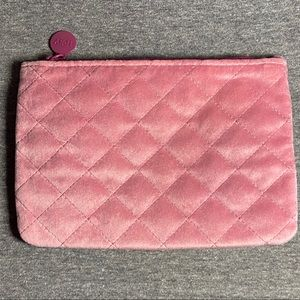 ipsy pink/purple quilted makeup bag/cosmetics bag